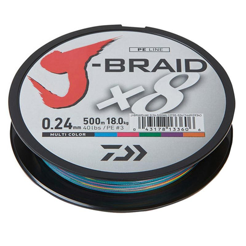 Pintas valas Daiwa J-Braid x8 Multicolor