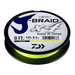 Pintas valas Daiwa J-Braid x4 Yellow