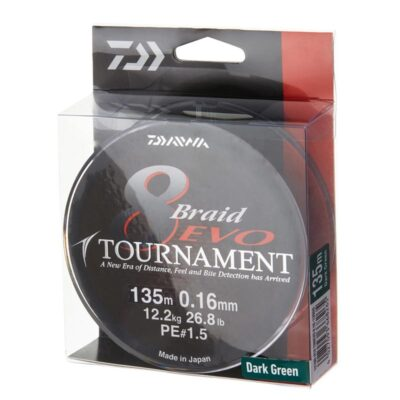 Pintas valas Daiwa Tournament 8 Braid EVO Dark Green