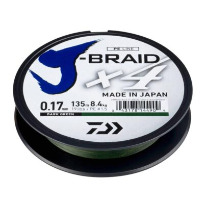 Pintas valas Daiwa J-Braid x4 Dark Green