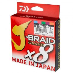 Pintas valas Daiwa J-Braid Grand x8 Multicolor