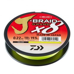 Pintas valas Daiwa J-Braid Grand x8 Yellow