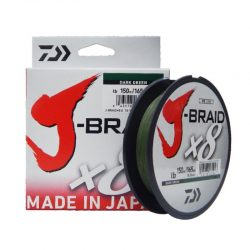Pintas valas Daiwa J-Braid x8 Dark Green