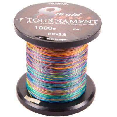 Pintas valas Daiwa Tournament 8 Braid EVO Multicolor 1000m
