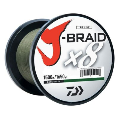 Pintas valas Daiwa J-Braid x8 Dark Green 1500m
