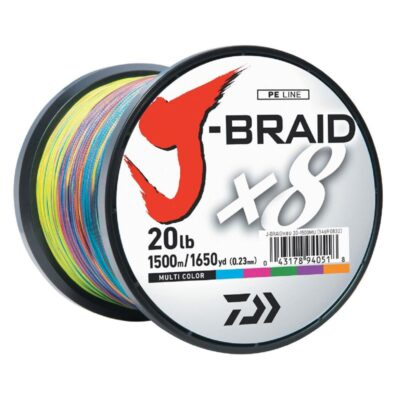 Pintas valas Daiwa J-Braid x8 Multicolor 1500m