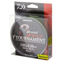 Pintas valas Daiwa Tournament 8 Braid EVO chartreuse